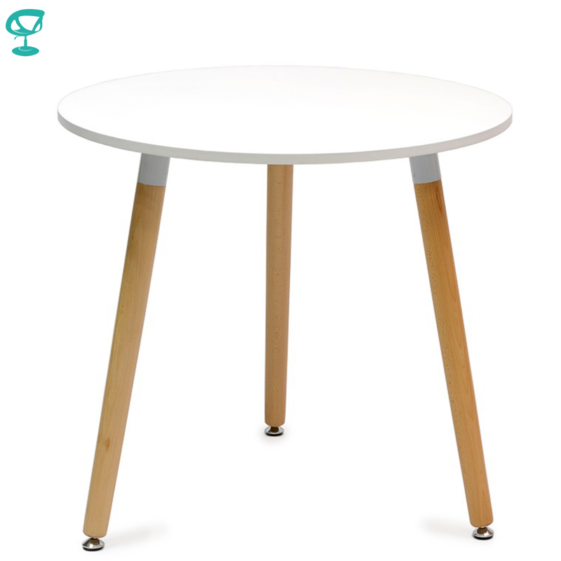 94929 Barneo T-12 MDF Interior Dinner Table Bar Round Table Kitchen Furniture Dining Table White Free Shipping In Russia