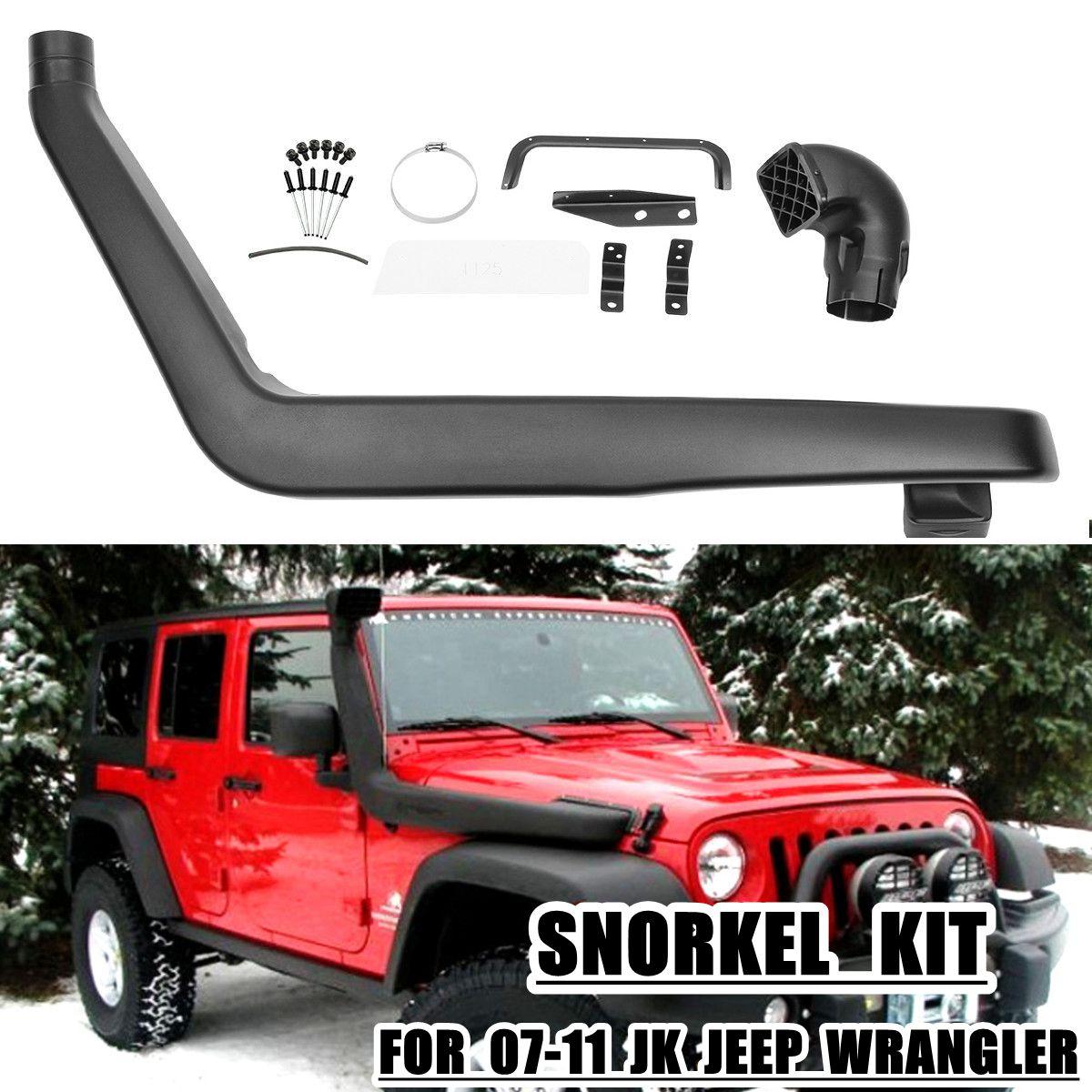 רכב קדמי ימין שנורקל ערכת עבור Jeep עבור רנגלר JK 3.8L V6 2007 2008 2009 2010 2011 אוויר Ram הצריכה צינור מערכת
