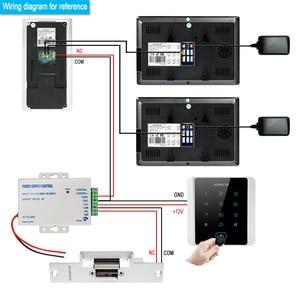 Image 2 - HOMSECUR فيديو باب الدخول الأمن الداخلي مع تسجيل ولقطة لمدة 2 شقة + امدادات الطاقة + وحدة تحكم الوصول