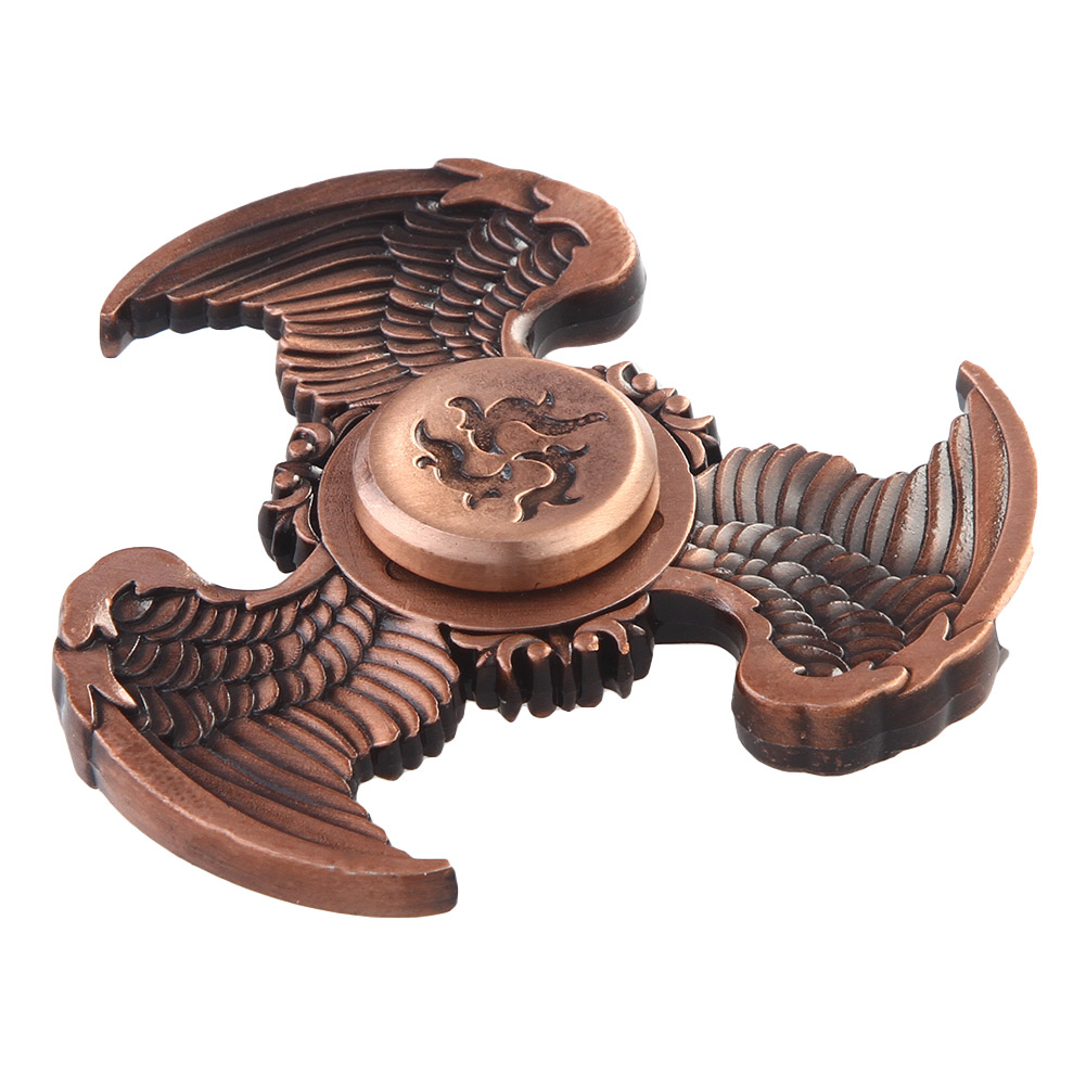 Three Wings Flying Eagle Bat Shape Fidget Hand Spinner Finger Toys EDC Focus Stress Reliever For Kids Adults