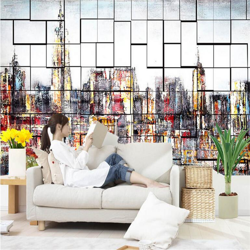 Custom Wallpaper 3D Stereoscopic City Photo Wall Mural Abstract Painting Wallpapers Wall Papers for Living Room Home Decor Hotel brooklyn black and white wallpaper mural photo wallpaper 3d mural large wall painting mural backdrop stereoscopic wallpaper
