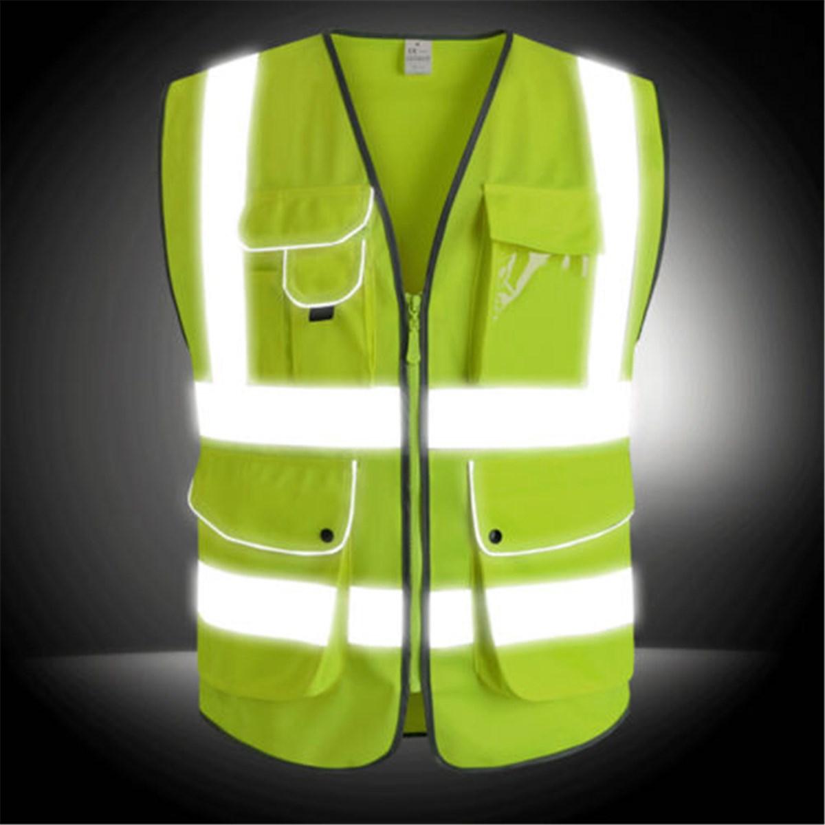 NEUE Safurance Unisex Hohe Sichtbarkeit Reflektierende Multi Taschen Bau Sicherheit Weste Arbeitskleidung Outdoor Sicherheit Kleidung