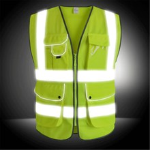 NEW Safurance Unisex High Visibility Reflective Multi Pockets Construction Safety Vest Working Clothes Outdoor Safety Clothing