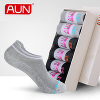 Women Black Deodorant Ankle Socks 6 Pairs For Dress Warm Cotton Polyester Spandex Winter Breathable Socks