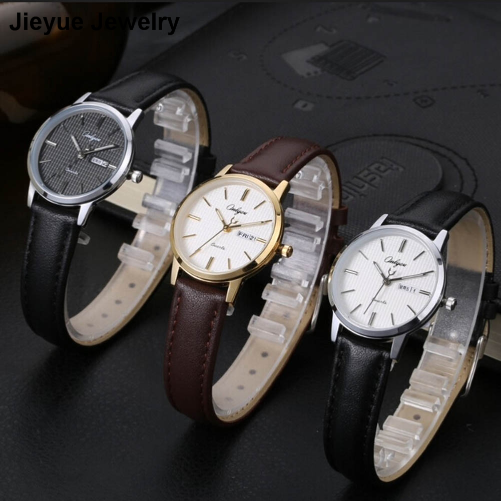 ONLYOU Lovers Watch Fashion Design Couple Dress Wristwatch Casual Leather Waterproof Watches Male   Sport Clock Watch Men onlyou lovers watch men women quartz watches fashion design real leather band couple dress calendar waterproof analog wristwatch