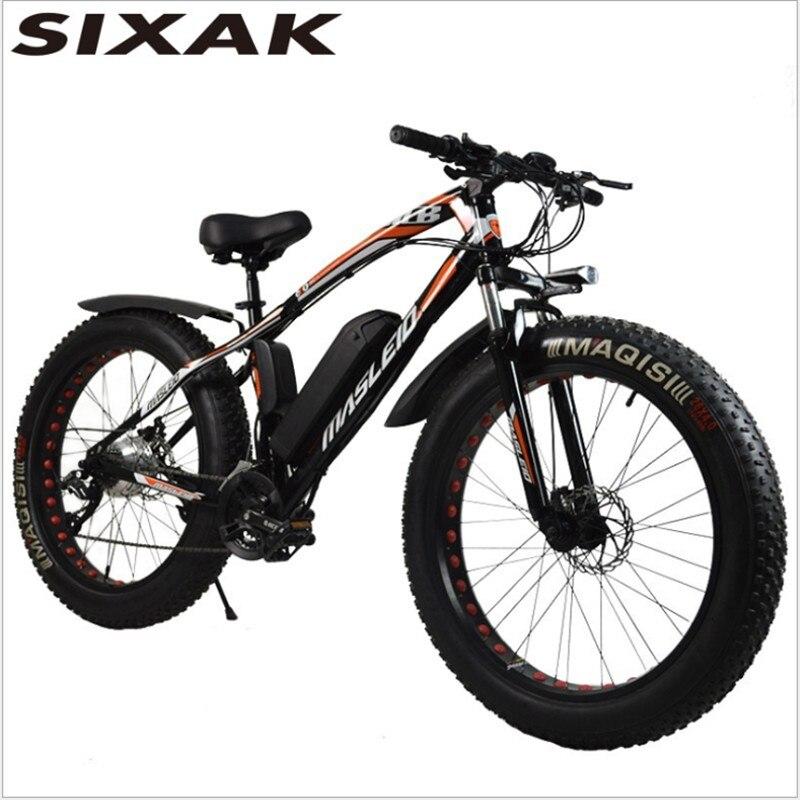 SIXAK26 pollici serpente bicicletta elettrica, spiaggia batteria al litio mountain bike, 24 velocità intelligente neve auto. produttore all'ingrosso
