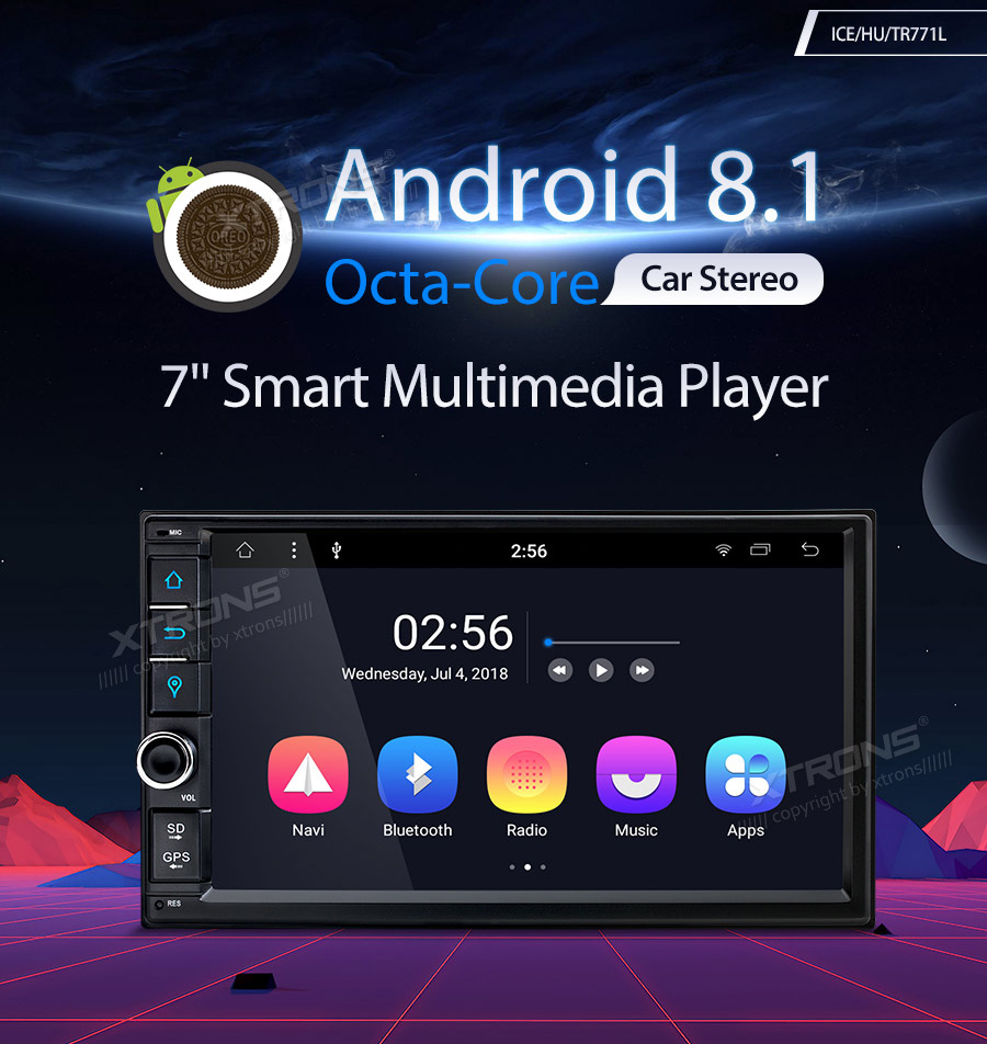 XTRONS 2 Din Android 8 1 Universal Car Radio Stereo Player GPS For Nissan  Volkswagen TOYOTA Honda KIA Hyundai Mazda BME NO DVD