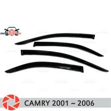 Окна отражатель для Toyota Camry V30 2001 ~ 2006 дождь дефлектор грязи Защитная оклейка автомобилей украшения аксессуары для литья под давлением