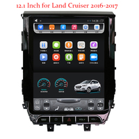 Quad Core 12.1 for Toyota land Cruiser 2016 2017 Vertical Screen Android 7.0 Car DVD Radio Stereo GPS RAM 1G ROM 32G