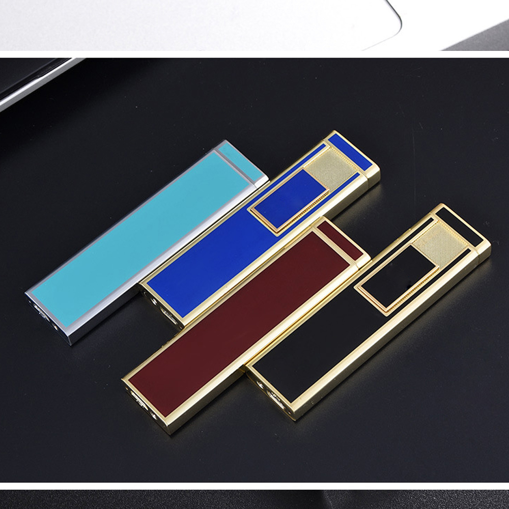 2018 NEW USB Electronic Cigarette Lighters Charging Electric Wire Windproof Fire Rechargeable Flameless Cigar Lighter