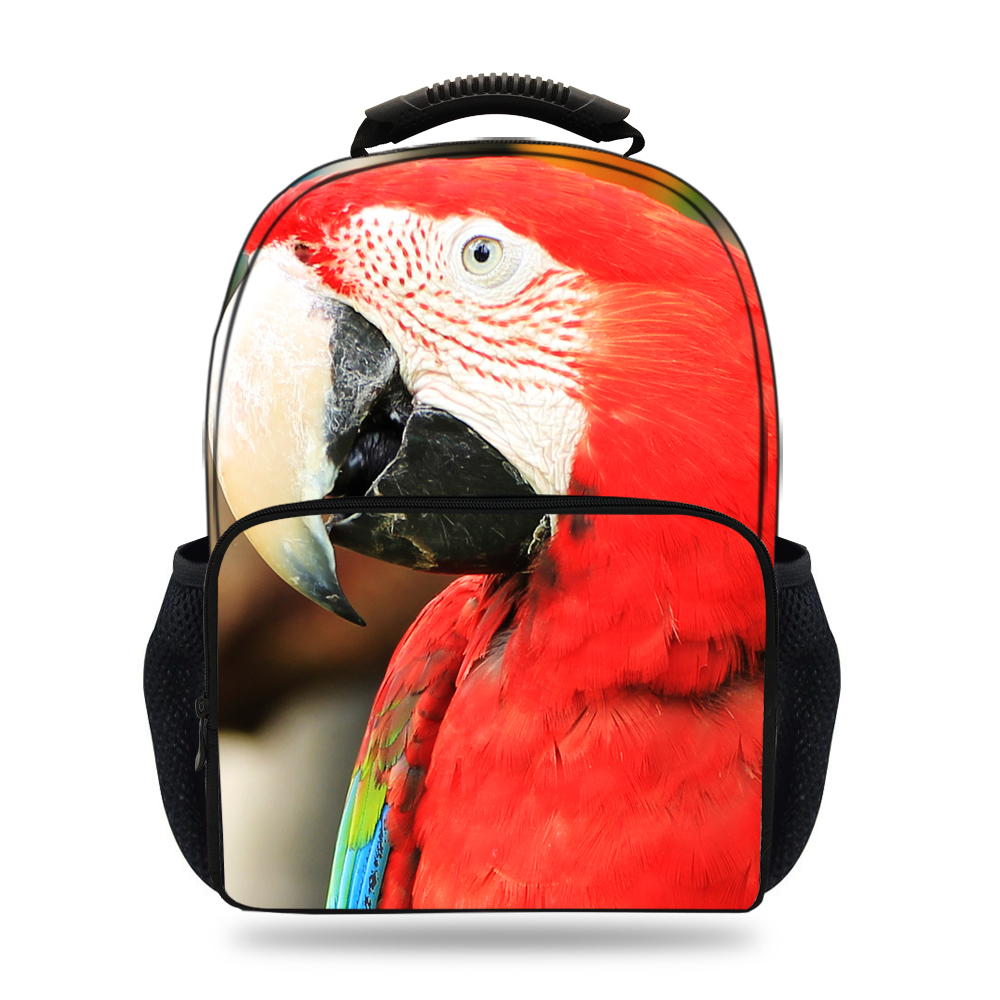 47c763a58f 15inch Kids 3D Animals Backpack For Women School Bags Parrot Backpack Macaw  Teenagers Boys Casual Bookbag