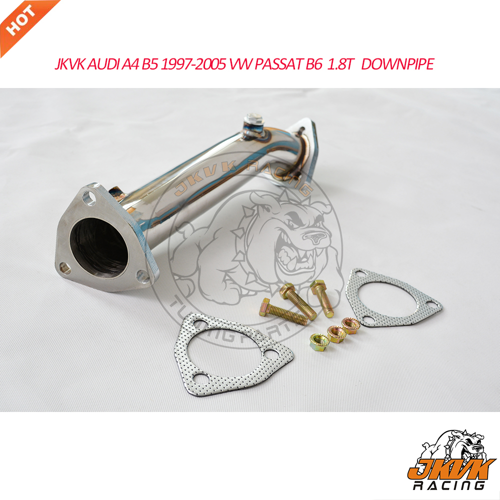 JKVK RACING AU A4 B5 RACING DOWNPIPE EXHAUST 1997-2005 PAS SAT B6 1.8T  DOWN PIPE title=