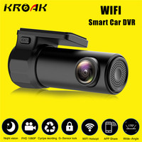 Mini WIFI Araba DVR HD1080P Kamera Dijital Kayıt Video Kaydedici DashCam Yol Kamera APP Monitör Gece Görüş Kablosuz DVR