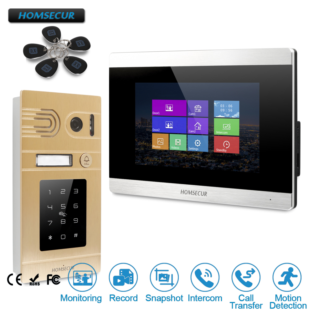 HOMSECUR 7 Hands-free Video&Audio Home Intercom+Golden Camera with Motion Detection for House/Flat rosy cole a house not made with hands