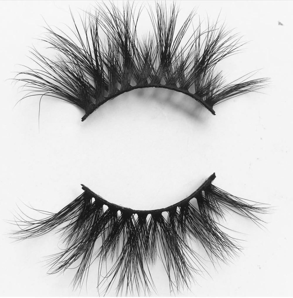 UPS Free Shipping 1000Pairs Premium Quality Natural 25mm Long Mink Eyelashes Long Lasting Hand Made 3D