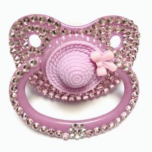 Image 3 - MIYOCAR độc đáo handmade bling hồng dành cho người lớn núm vú Dành Cho Người Lớn Có Kích Thước Dễ Thương Đá Quý Pacifier Dummy ABDL Silicone Núm Vú Núm Vú