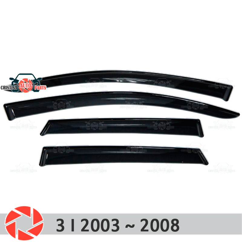 Window deflector for Mazda <font><b>3</b></font> 2003~2008 rain deflector dirt protection car styling decoration accessories molding image