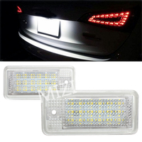 CE Car Error Free LED License Plate Light Chips Number Licence Plate Lamp Rear Tail Lamps for Audi A6 C5 4B Avant Wagon RS6 Plus