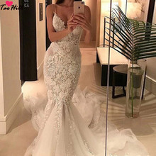Tao Hill TaoHill Mermaid Wedding Dress Sapghetti V-neck