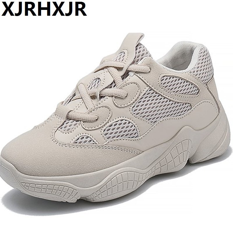 Women High Platform Shoes 2018 Fashion Breathable Mesh Shoes Women Height Increasing Shoes 4CM Thick Sole Trainers Ladies Flats forudesigns women fashion high top flats shoes cool skull design female height increasing platform shoes for teenage girls shoes