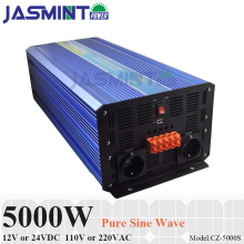 5000W Off Grid Inverter, 12V/24VDC 100/110/120VAC or 220/230/240VAC Pure Sine Wave PV Inverter for Wind or Solar Power System off grid pure sine wave solar inverter 24v 220v 2500w car power inverter 12v dc to 100v 120v 240v ac converter power supply