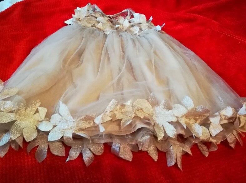 Summer Mesh Vest Girls Dress Baby Girl Princess Dress Fashion Sleeveless Petal Decoration Party Chlidren Clothes