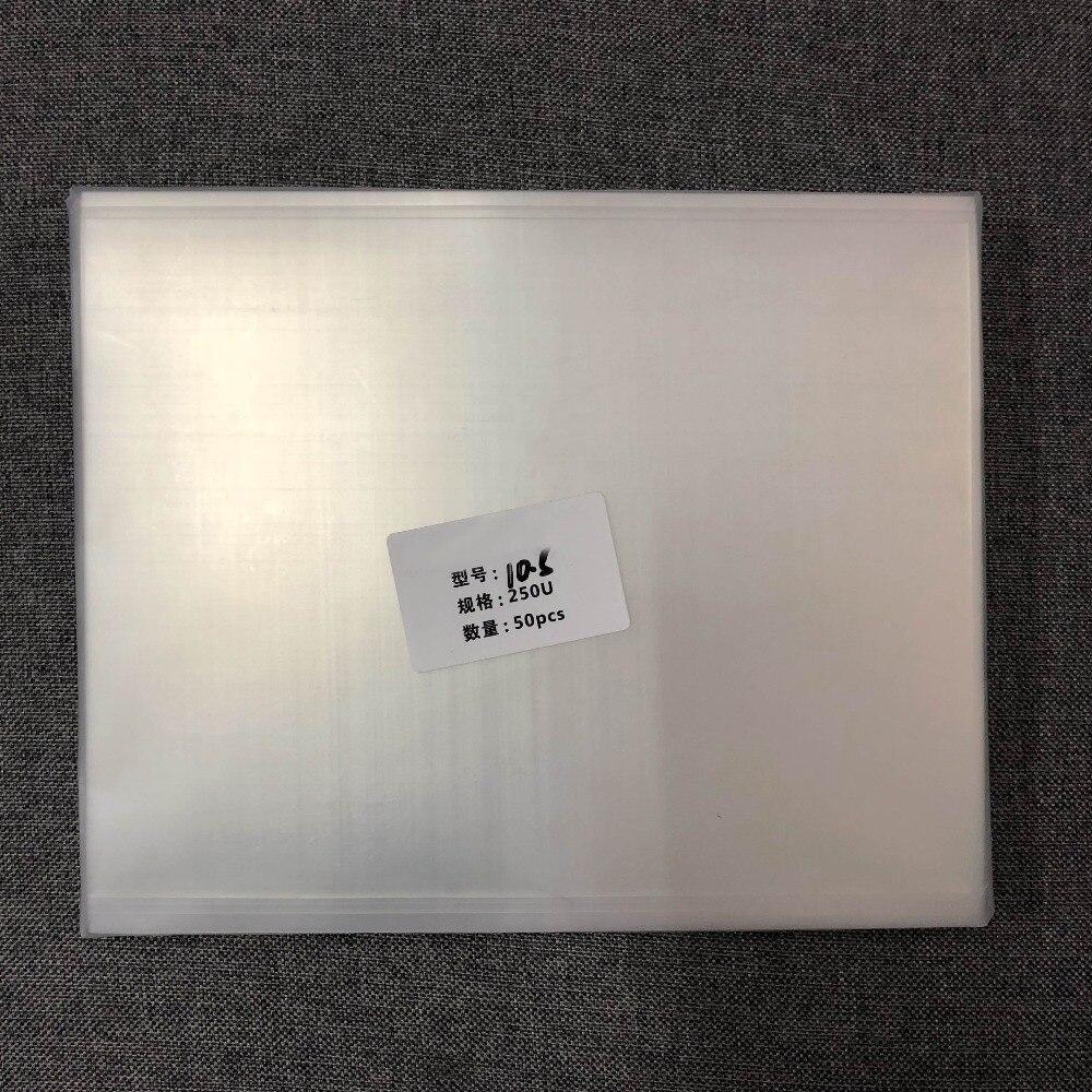 Per ipad pro 10.5 A1701 A1709 250um OCA ottico pellicola trasparente A CRISTALLI LIQUIDI dello schermo di tocco di vetro anteriore di posizionamento di laminazione non ritorno bolla