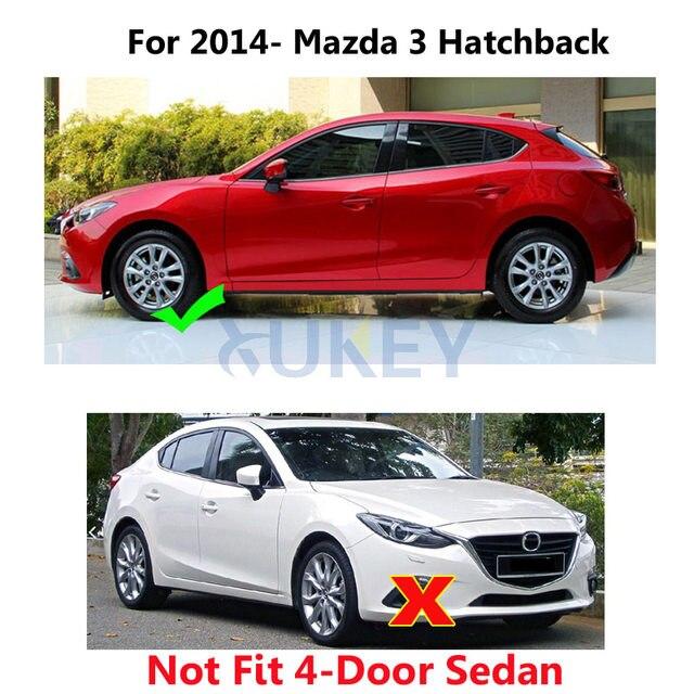 Set Car Mud Flaps For Mazda 3 (BM) Axela Hatch Hatchback 2014 2015 2016  2017 Mudflaps Splash Guards Mud Flap Mudguards Fender