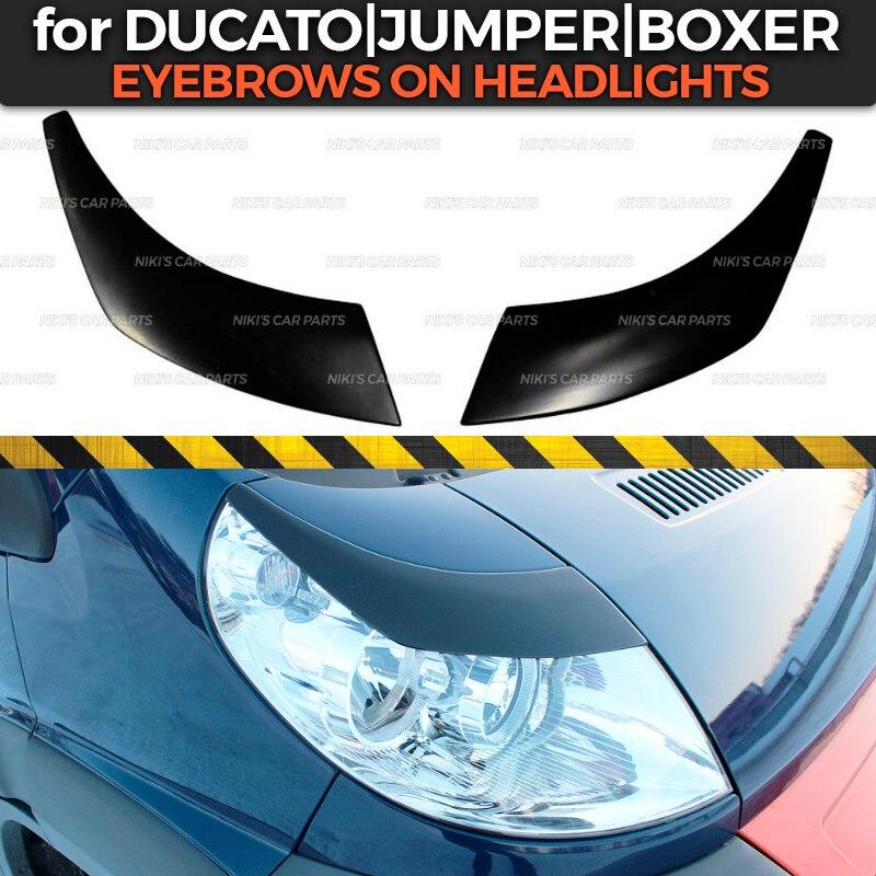 Накладка на фару для Fiat Ducato 2006-2013, накладка на ресницы из АБС-пластика, декоративное оформление, тюнинг автомобиля