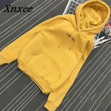 Xnxee Autumn Winter New Hooded Sweatshirts Women Loose Fleece Thick Hoodies Pullovers Raglan Sleeve Women Tops 65510 недорго, оригинальная цена