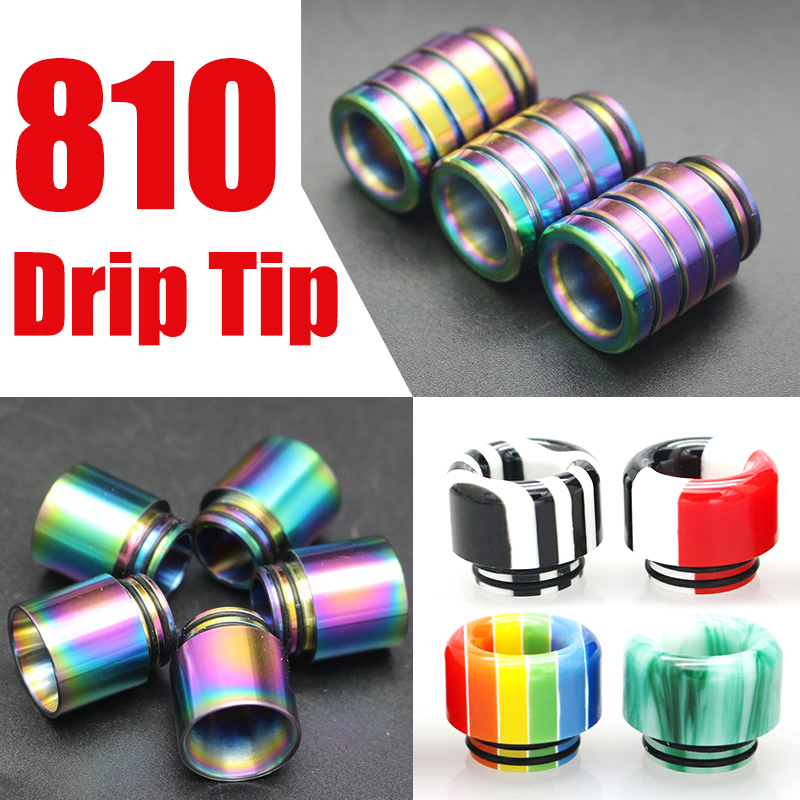 Beautiful 810 Drip Tip Wide Bore Drip Tips E Cig Vape Rainbow Mouthpiece For TFV12 Prince TFV8 & Big Baby Tank