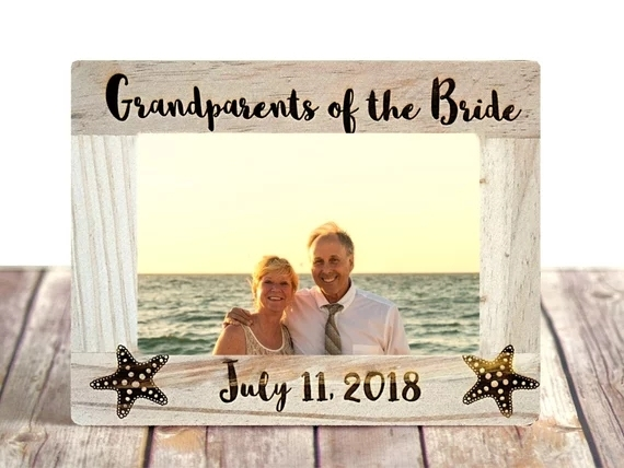 Customize Nautical Beach Wedding Gift Parents Of The Bride Groom