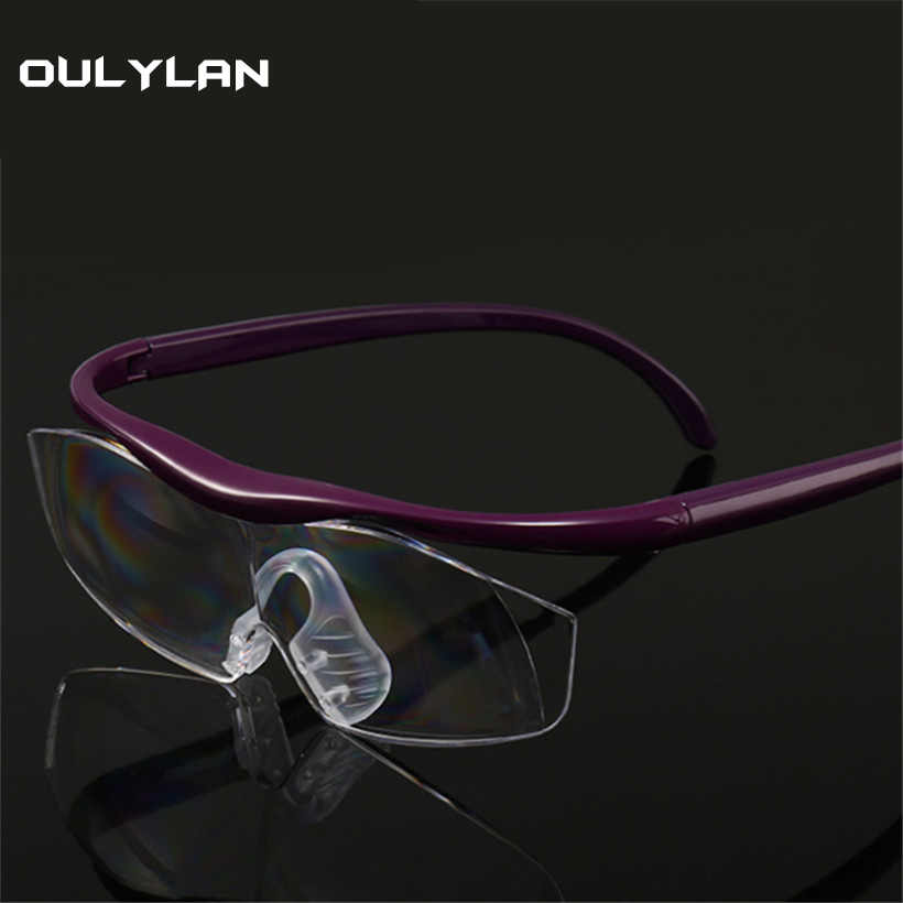 e11ce9f7323 Oulylan Big Vision 1.8 times Reading Glasses Fashion 300% Magnifies Vision  Magnification Lens Presbyopia Eyewear