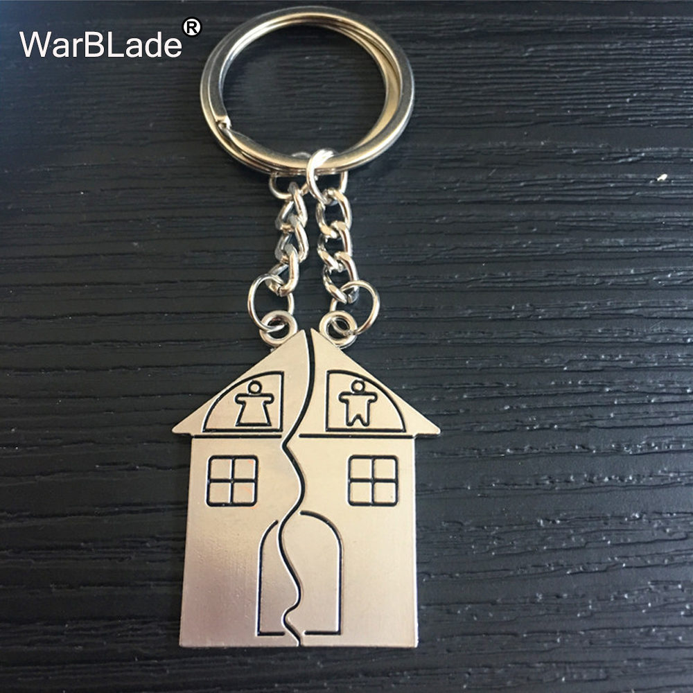 WarBLade New Trendy Hot Sale Wedding house Love Keyrings Key Chains Lovers Ring Couples  ...