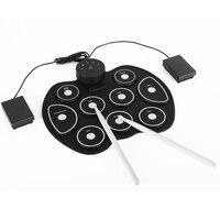 Eva2king silicone engraçado eletrônico portátil bateria digital prática instrumento musical com baquetas brinquedos musicais para crianças