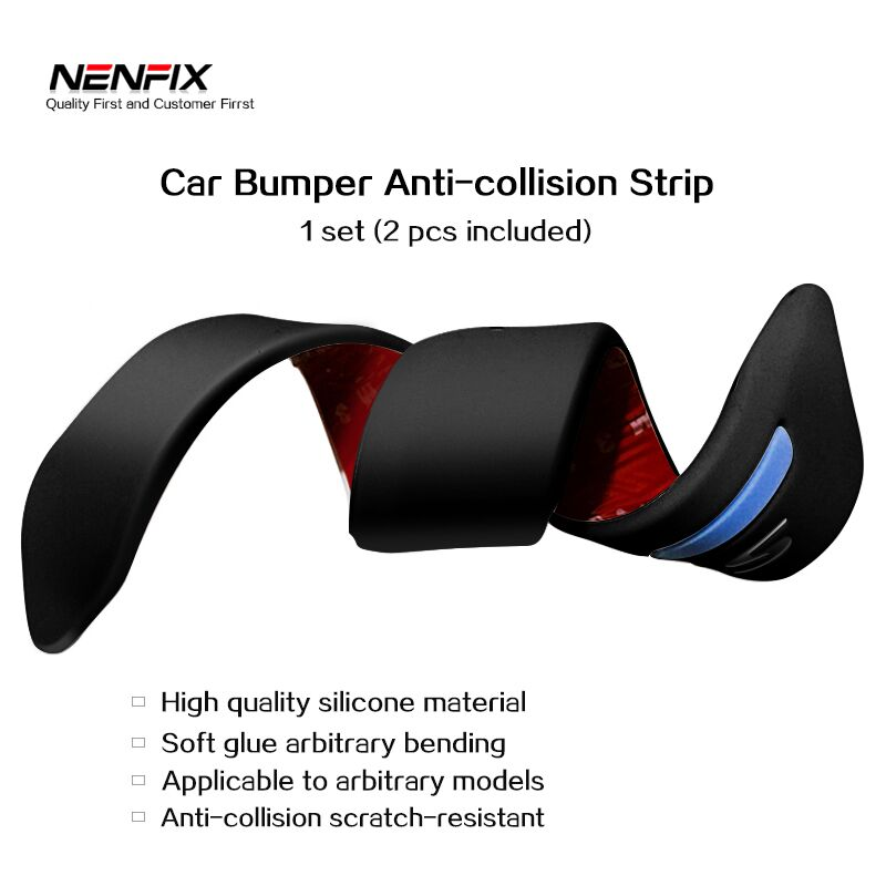 2Pcs 40cm Car Anti-collision Strip Bumper Guard Protector Auto Body care Crash Anti-rub Bar Protective Trim Styling Moulding стоимость