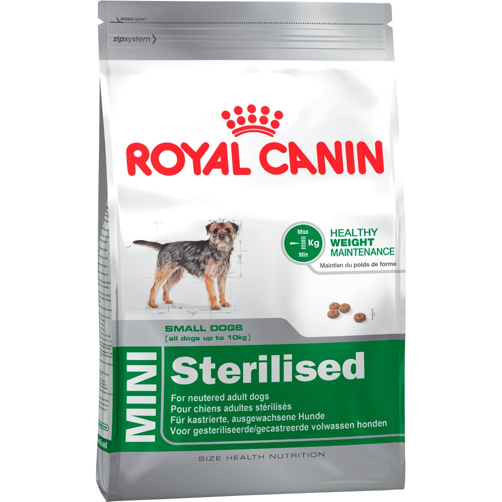 Dog Food Royal Canin Mini Sterilised Adult, 2 kg 500ml