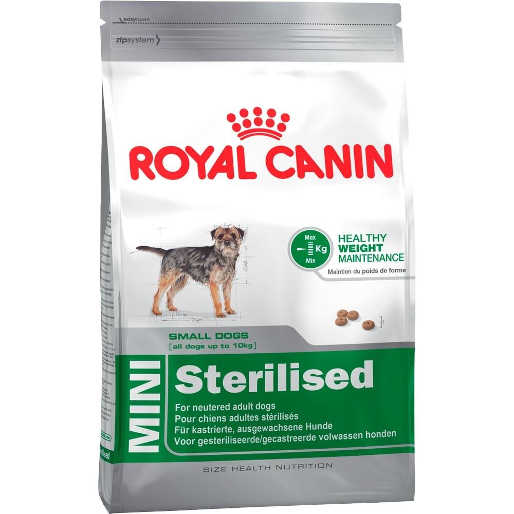 Dog Food Royal Canin Mini Sterilised Adult, 2 kg new baroque luxury crystal hairband vintage women retro crystal water drill headdress pearl colorful hair jewelry