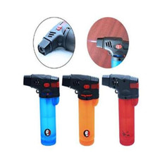 Guevara colorful Windproof Cigar Lighter Fashion Single Jet Flame Cigarette Environmental plastics