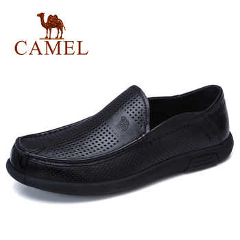CAMEL Breathable Holes Men Shoes Moccasins Soft Bendable Genuine Cow Leather Male Business Loafers Flats Driving Footwear Man - DISCOUNT ITEM  30% OFF All Category
