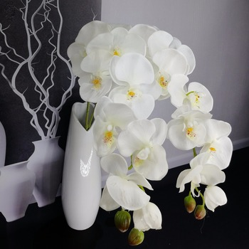 1piece 9 heads high quality Wedding Decoration Artificial Flowers Artificial Butterfly Orchid latex Flower Home Wedding decor 1
