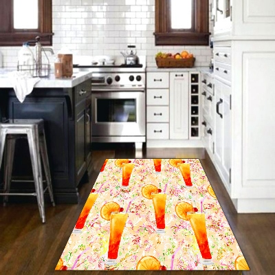 Else Orange Juice Absrtact Pink Yellow Green Fruits 3d Print Non Slip Microfiber Kitchen Modern Decorative Washable Area Rug Mat