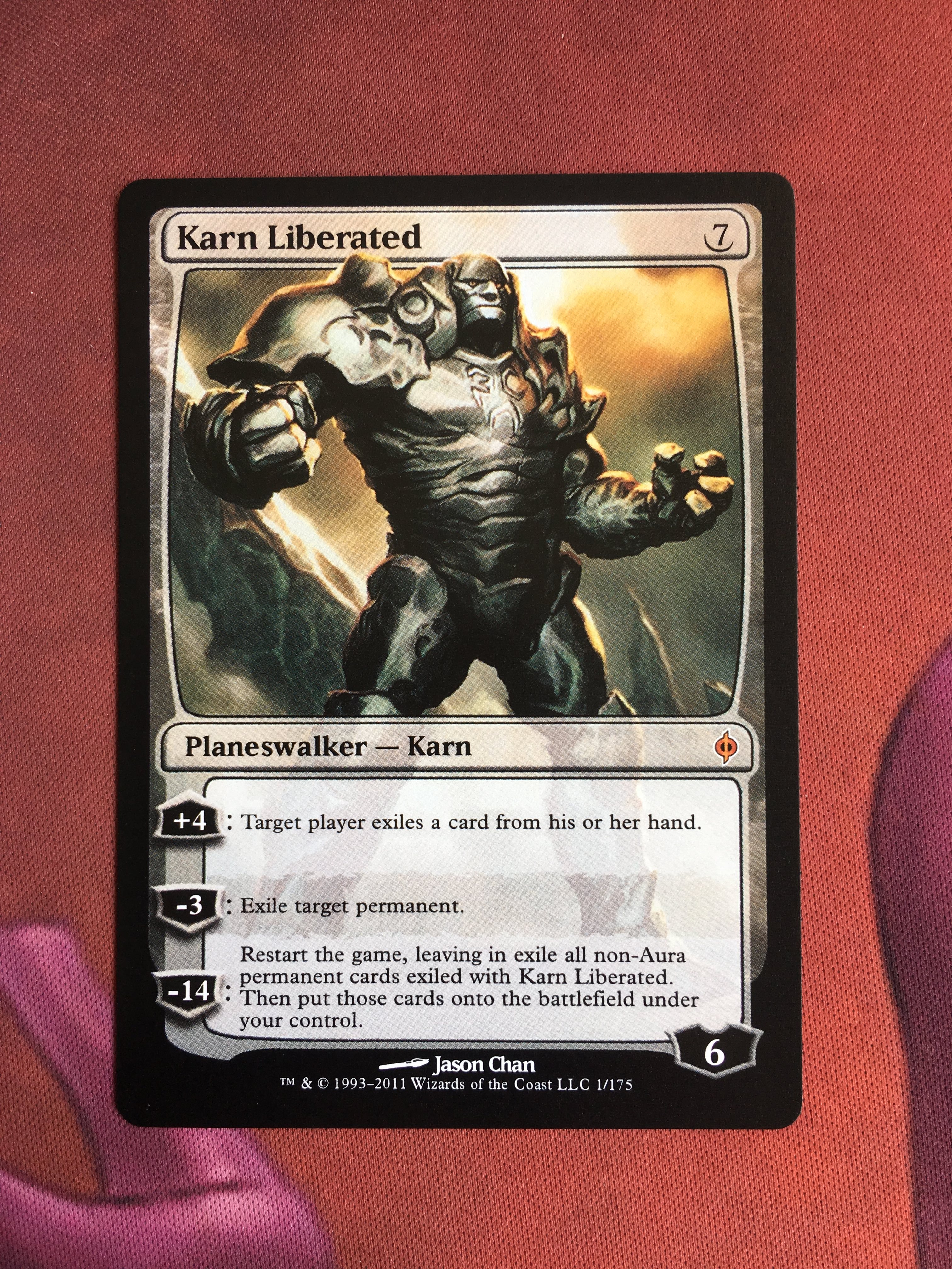 Karn Liberated New Phyrexia Magician ProxyKing 8.0 VIP The Proxy Cards To Gathering Every Single Mg Card.