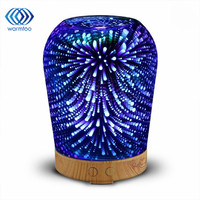 100ml 12W 100 240V 3D Light Essential Oil Aroma Diffuser Ultra Quiet Portable Ultrasonic Humidifier Aromatherapy