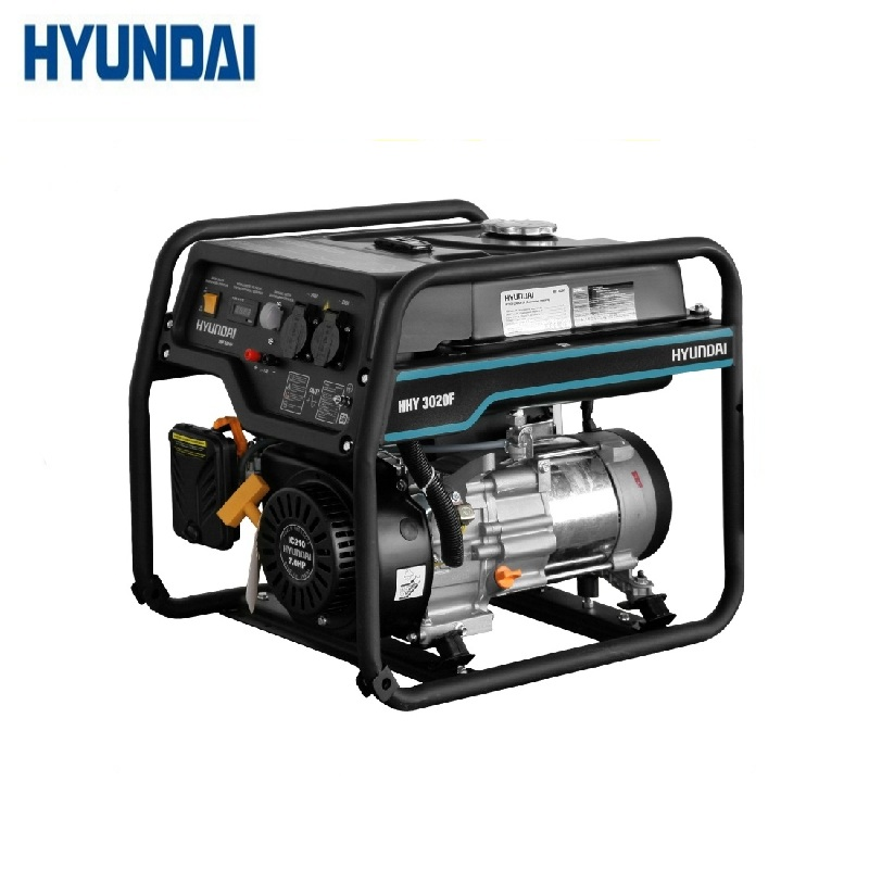 Gasoline generator Hyundai HHY 3020F Power home appliances Backup source during power outages Benzine stations