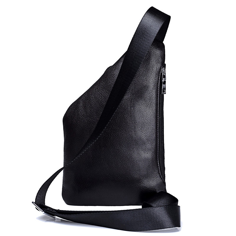 MISFITS nouveau en cuir véritable hommes poitrine sac mode sac à bandoulière hommes Messenger sacs en cuir de vache voyage Pack pour homme sac à bandoulière - 3