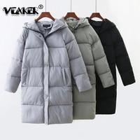 2018 Women Winter Parka Jacket Thick Duck Down Overcoat Elegant Slim Hooded Parka Female Warm Coats S XL