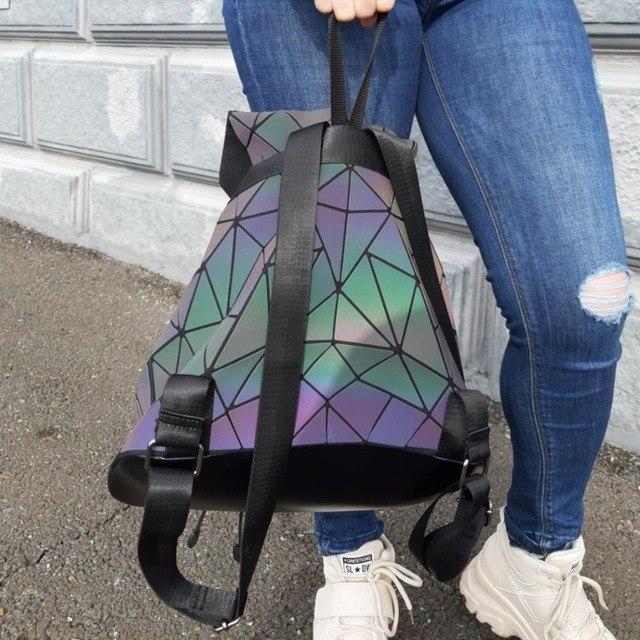 Голографический рюкзак в стиле Bao Bao