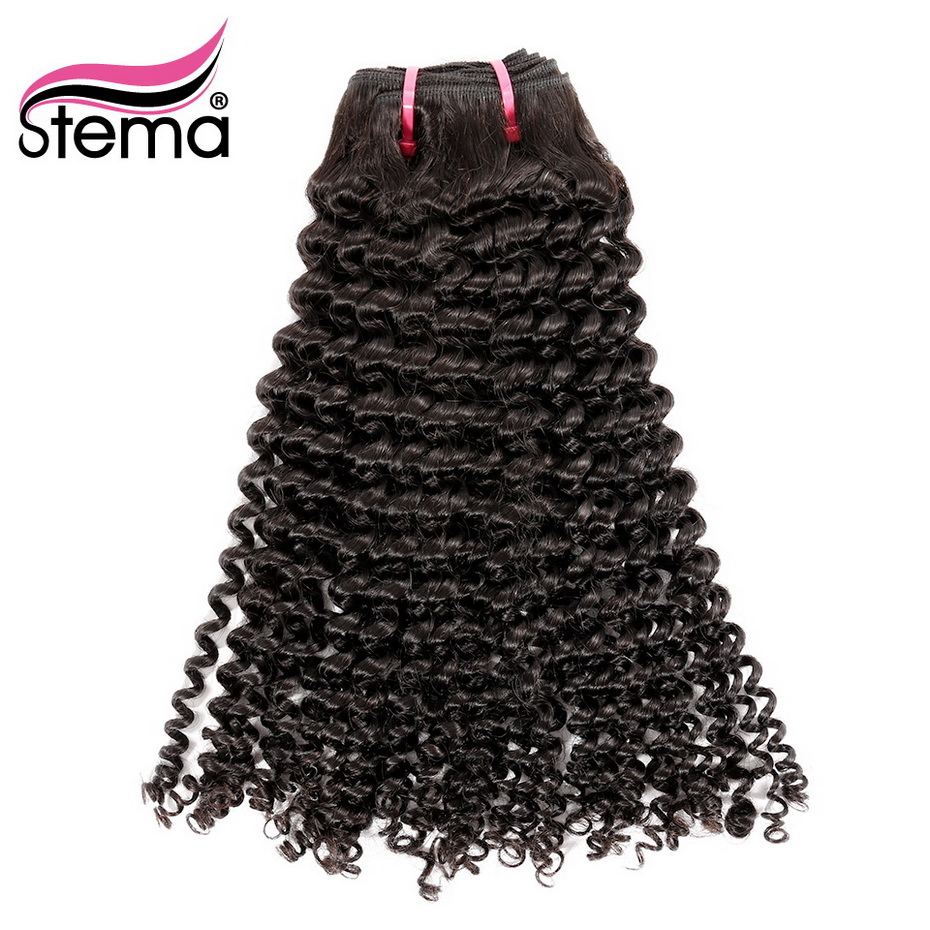 Stema Brazilian Hair Weave Kinky Curly Hair Bundles 100% Human Hair Remy Hair Extension 1/3/4 Bundles Free Shipping