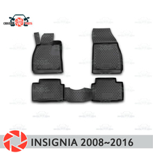 Коврики для Opel Insignia 2008 ~ 2016 ковры Нескользящие полиуретановые грязи защиты подкладке автомобиля средства укладки волос